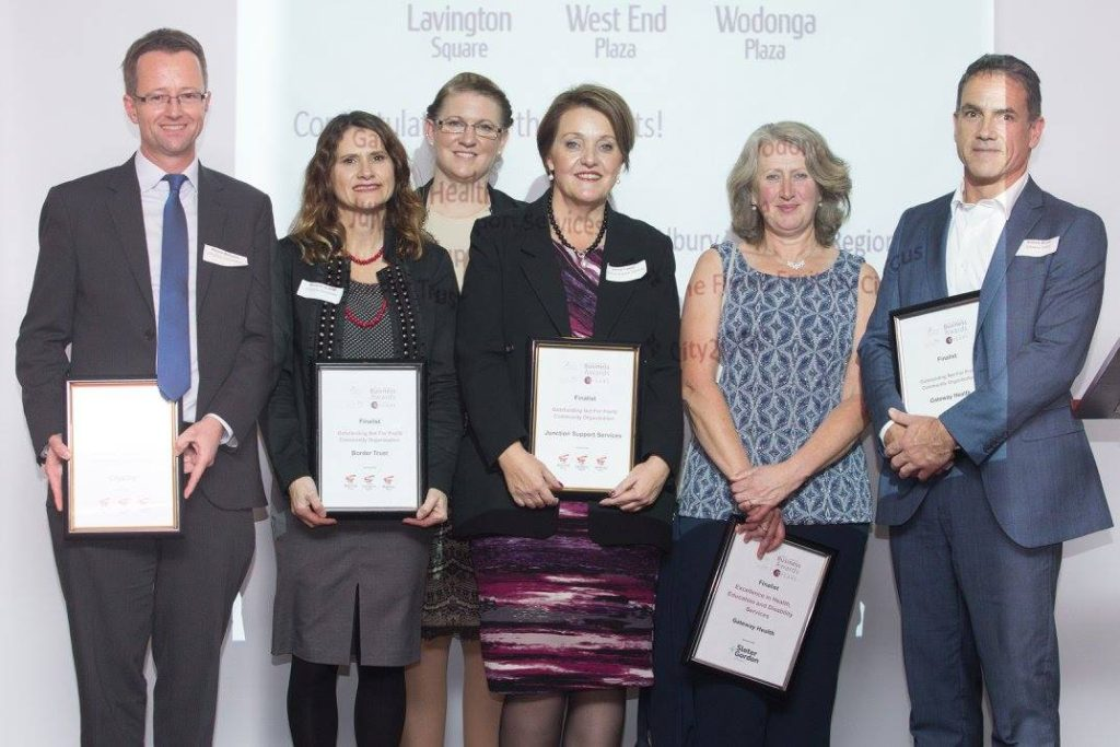 Finalists in the Not-for-Profit category of the Albury Wodonga Business Awards