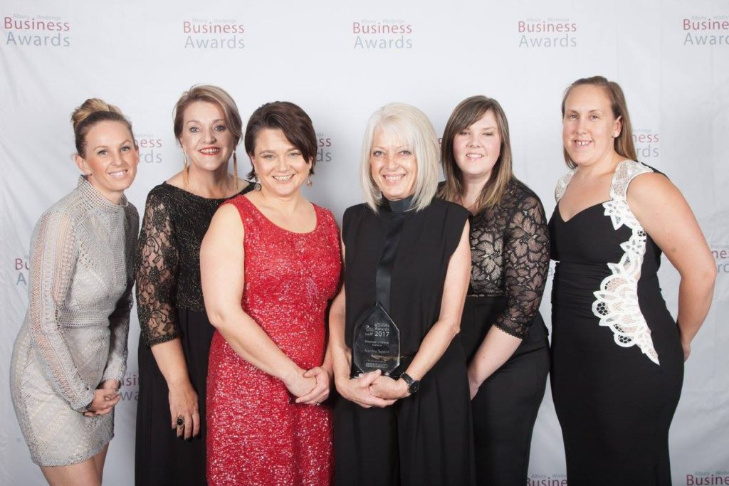 Junction staff at the Albury Wodonga Business Awards
