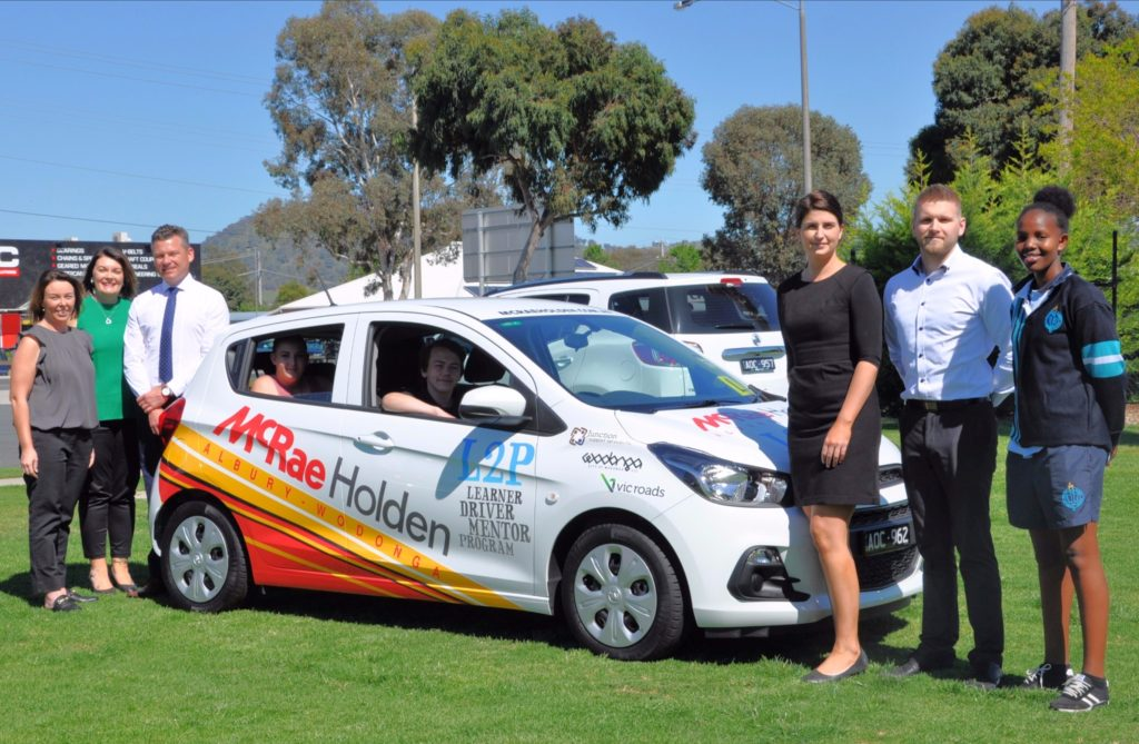 McRae Holden volunteers with L2P young drivers