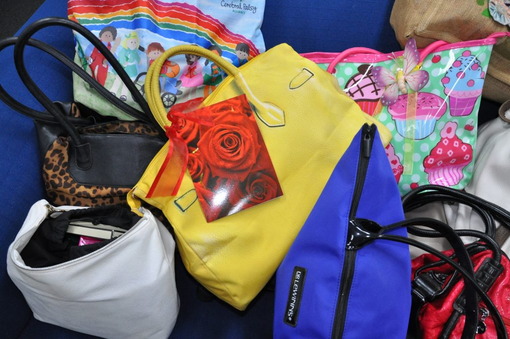 Handbags donated from Share the Dignity